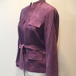 Studio I Jackets & Coats - Studio 1 Purple Belted Zipper Jacket Size 8